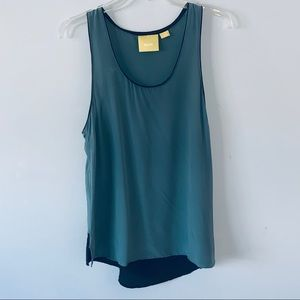 Anthropologie Mauve size 10  green tank top